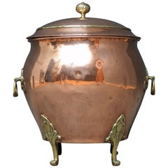 Stylish Art Nouveau Coal Bin
