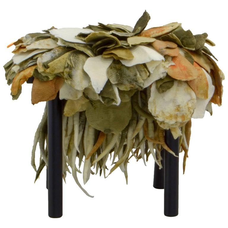 "Stool ""Folhas"", Inês Schertel, Brazilian Contemporary Design"