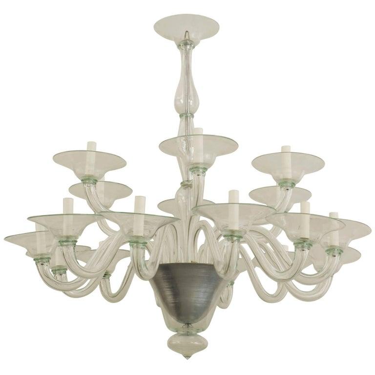 Italian venetian murano 1940s style light green glass chandelier for italian venetian murano 1940s style light green glass chandelier for sale aloadofball Gallery
