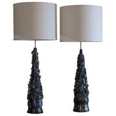 Flair Edition Blue Glazed Ceramic Lamp
