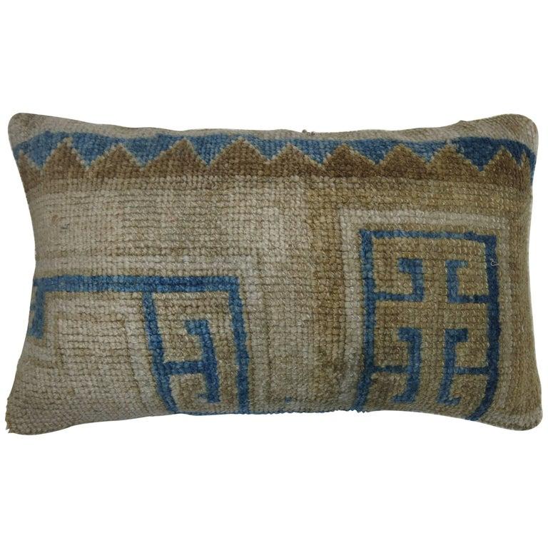Bolster Vintage Oushak Rug Pillow