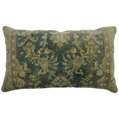 Large Vintage Persian Earth Tone Rug Pillow