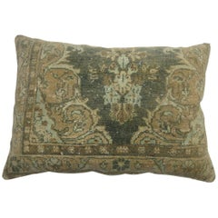 Large Antique Persian Earth Tone Rug Pillow