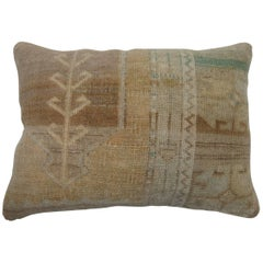 Lumbar Vintage Oushak Rug Pillow