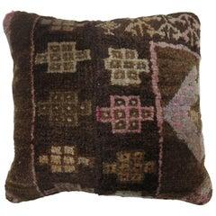 Vintage Turkish Abstract Rug Pillow