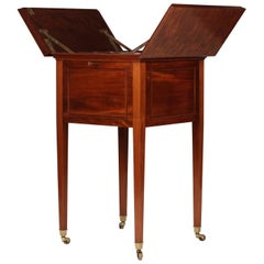 Mahogany Mappin & Webb Rise and Fall Cocktail Cabinet or Dry Bar