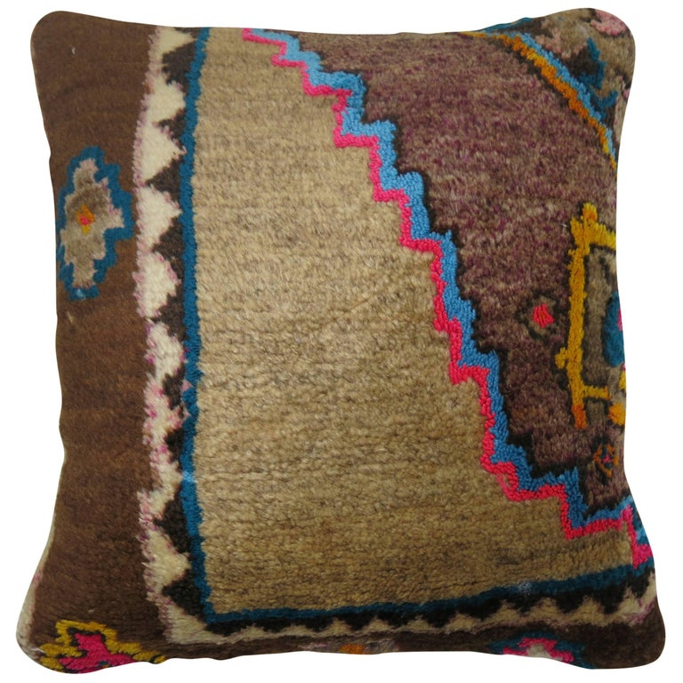 Bohemian Vintage Turkish Kars Rug Pillow