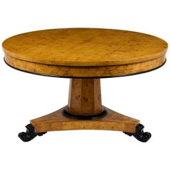 Circa 1930's Empire Burled Centre Table