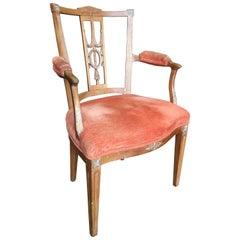 Italian Neoclassic Armchair, Mid-19th Century