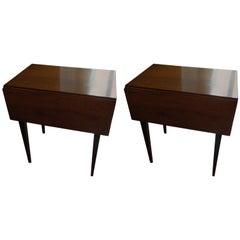 Pair of Mahogany Pembroke Style Tables, 20th Century
