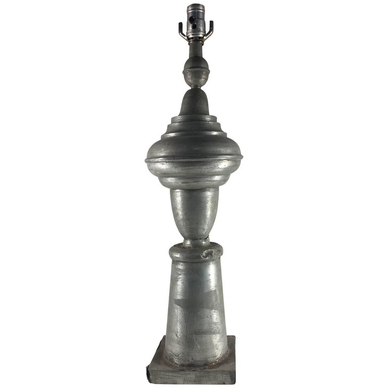 19th Century Zinc Finial Mounted as a Lamp
