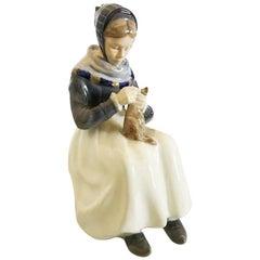 Royal Copenhagen Figurine of Woman with Cloth No. 1317