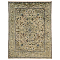 Vintage Persian Khorassan Area Rug with Traditional Style