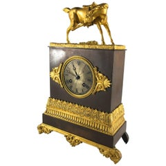French Restauration Period Mantel Clock, Equestrian