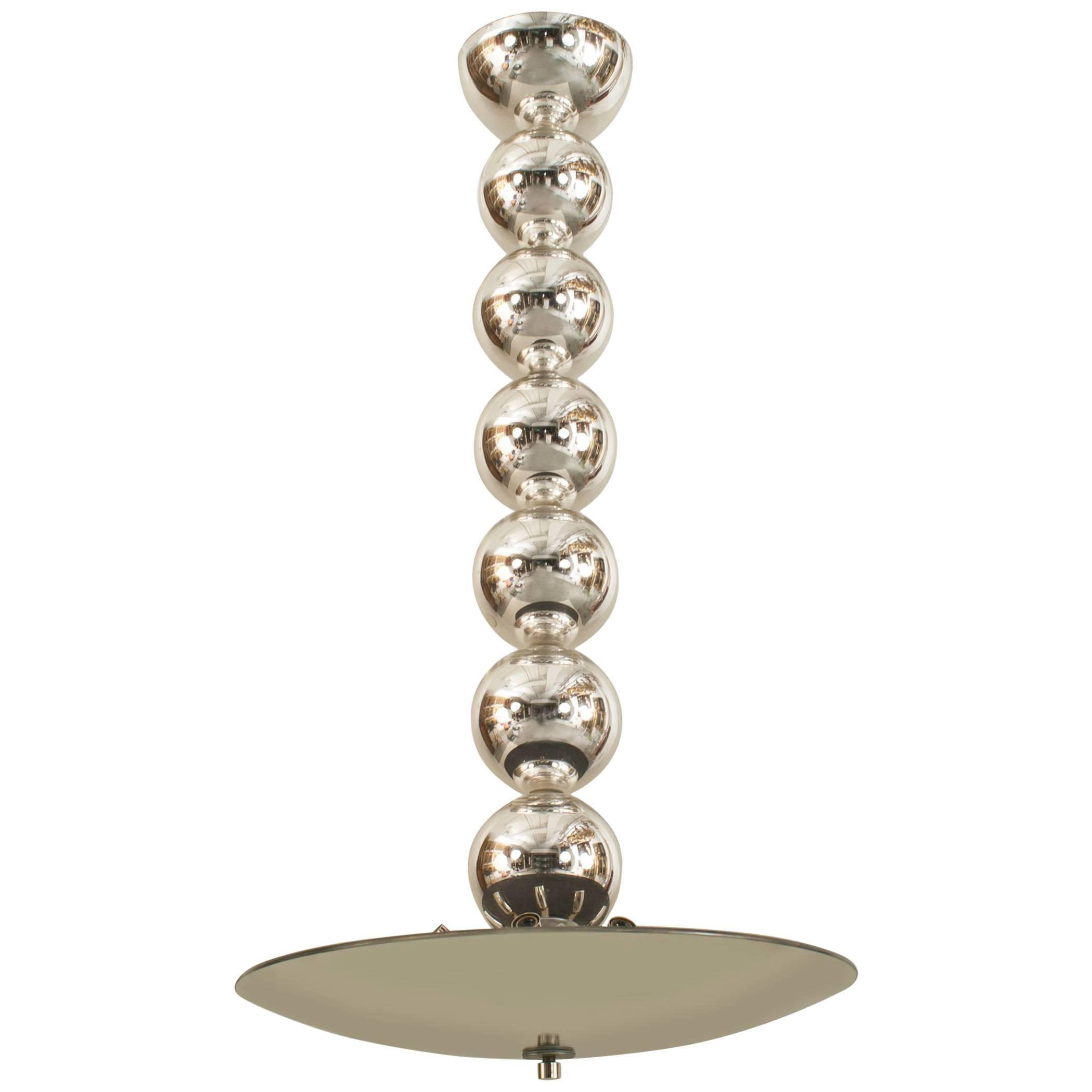 Italian Style Post-War Glass Ball Chandelier