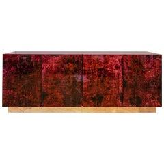 Rare Goatskin Sideboard by Aldo Tura