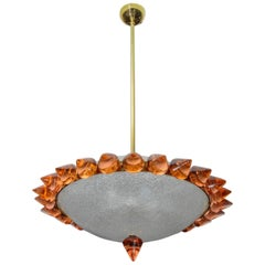 Murano Glass Chandelier Designed by Juanluca Fontana for Regis Royant Gallery