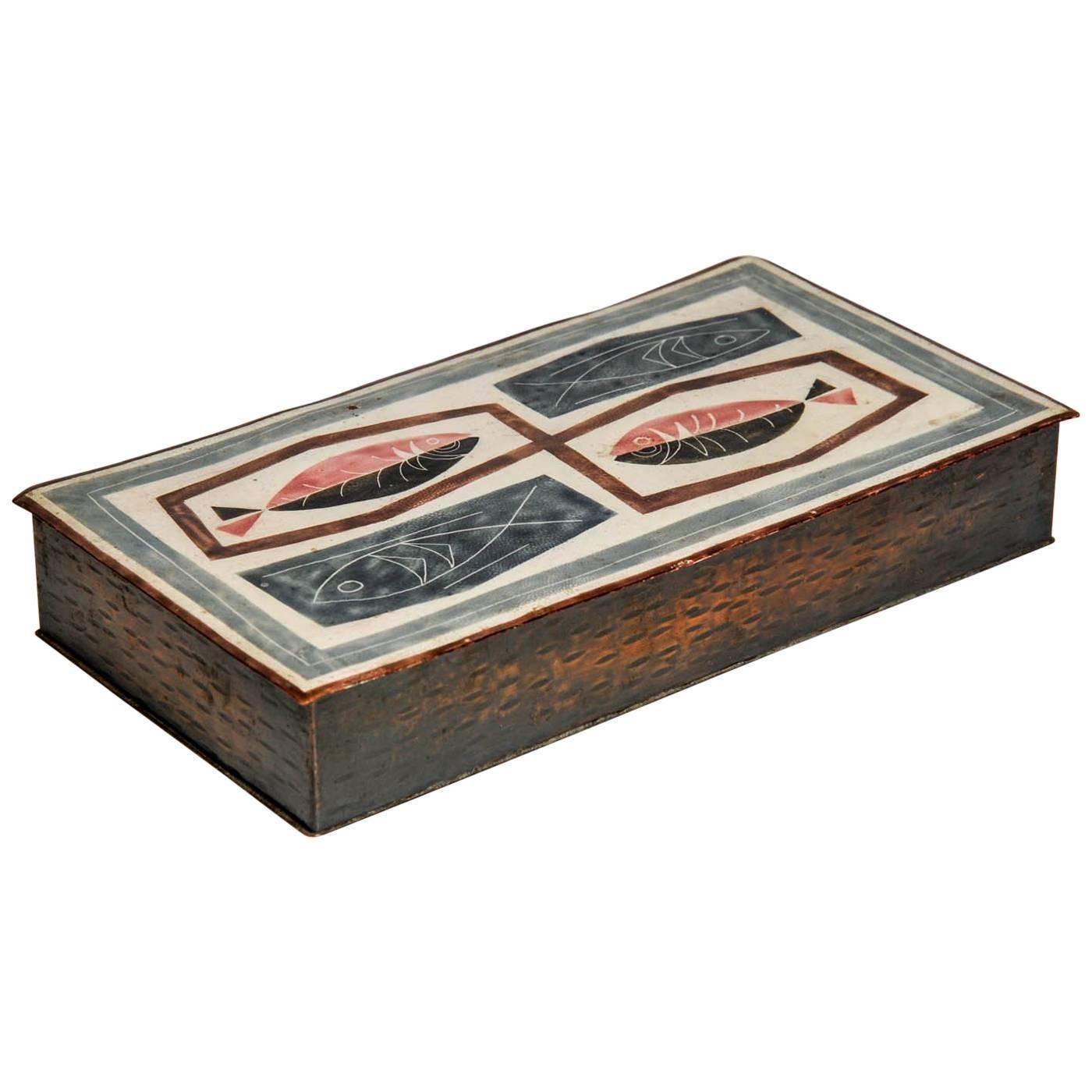 1960s Enameled Box with Trade Mark