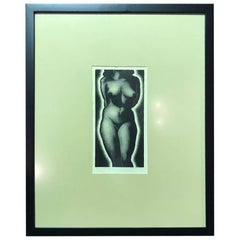 "Paul Landacre Limited Edition Wood Engraving ""Anna"""