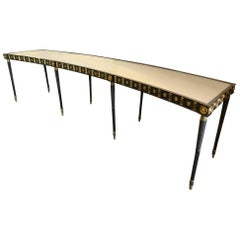 Maison Jansen Monumental Concave Steel and Bronze Console or Sideboard