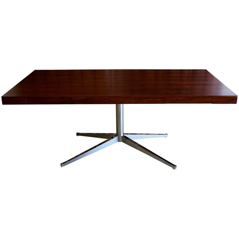 Rosewood Executive Desk By Florence Knoll For