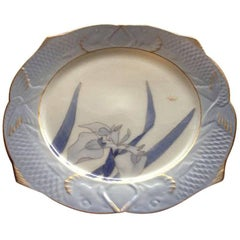 Royal Copenhagen Art Nouveau Fish Plate with Iris 3 of 3