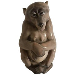Royal Copenhagen Figurine Monkey #1444 Pre 1923