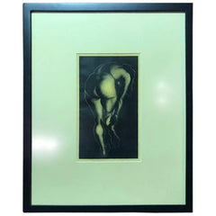 "Paul Lanacre Limited Edition Wood Engraving Print ""A Woman"""