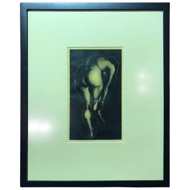 """Paul Lanacre Limited Edition Wood Engraving Print """"A Woman"""""""