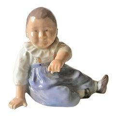 Royal Copenhagen Figurine Sitting Child #1517