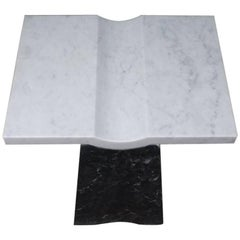 Contemporary Coulee Marble Side Table, Handmade in Italy
