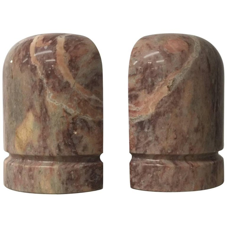 Pair of Midcentury Marble Bookends