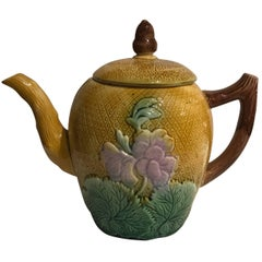 19th Century English Majolica Teapot