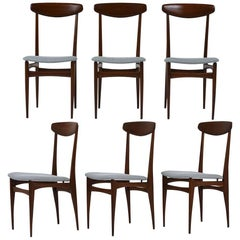 Set of Six Danish Dining Chairs, circa 1960