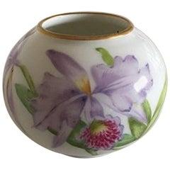 Royal Copenhagen Art Nouveau Vase in Overglaze with Flower Motifs
