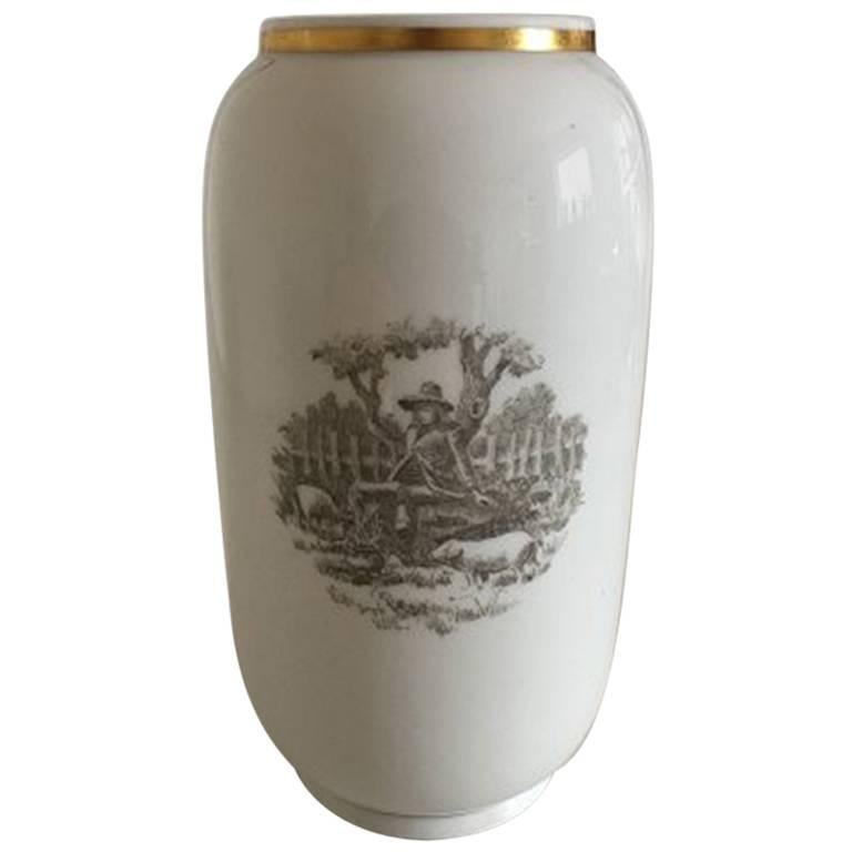 Royal Copenhagen Vase With Motif With The Swine Boy From Hc