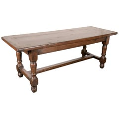 19th Century Solid Oak French Louis Philippe Farm Table