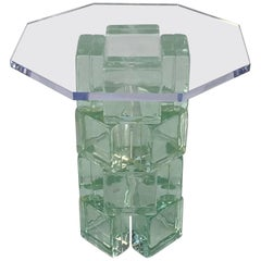 Glass Block Side Table by Imperial Imagineering