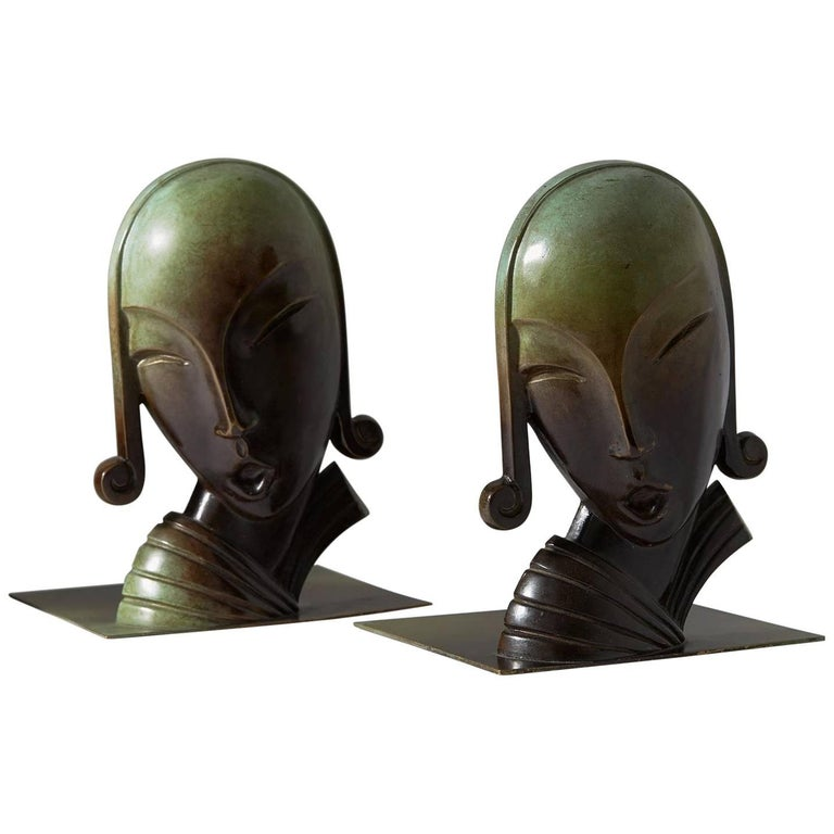 Book Ends, Designed by CE Borgström for Ystad Metall AB, Sweden, 1930s