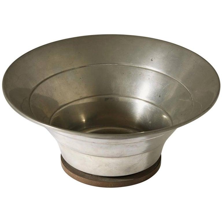 Bowl Designed by Hugo Gelia for Ystad Metall, Sweden, 1941 For Sale