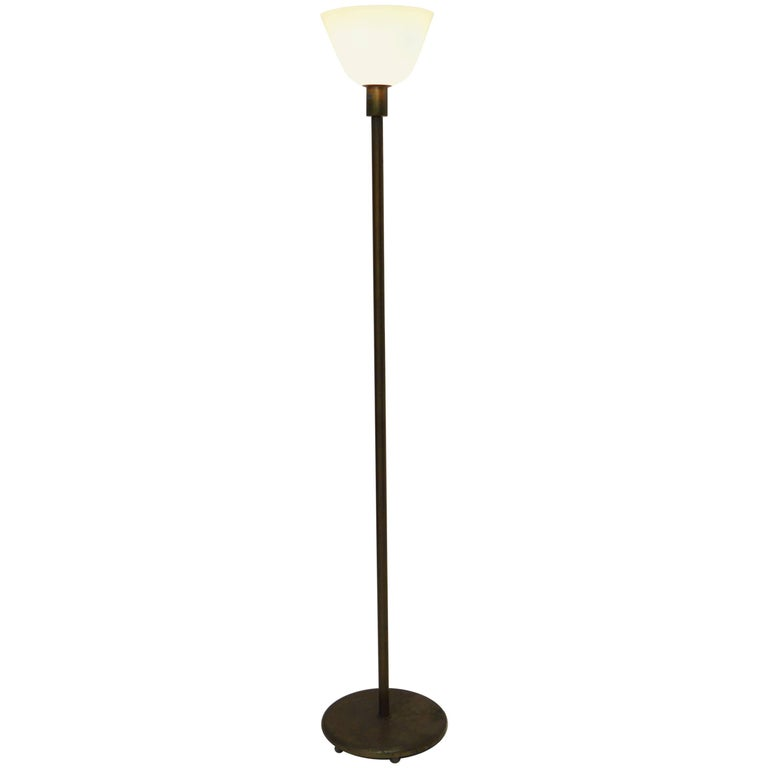 Svenskt Tenn Brass and Glass Uplight Floor Lamp