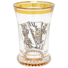 19th Century Parcel-Gilt Bohemian Glass Beaker, after Kothgasser