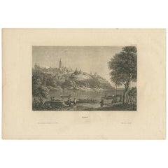 Antique Print of the City of Kiev 'Ukraine' Published, circa 1860