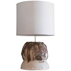 Flair Edition Ivory Glazed Ceramic Lamp