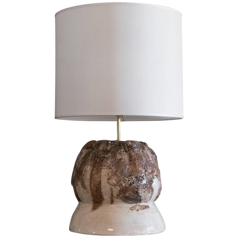 Flair Edition Ivory Glazed Ceramic Lamp