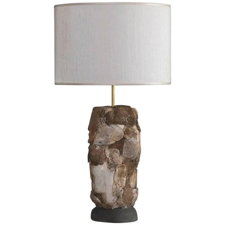 Flair Edition Glazed Ceramic Lamp For Sale