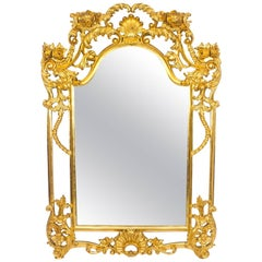 Beautiful Ornate Large Italian Gilded Decorative Mirror
