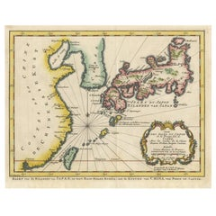 Antique Map of the Islands of Japan and Surroundings by J. van Schley, 1773