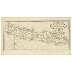Antique Map of Java 'Indonesia' Published, circa 1750