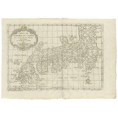 Antique Map of Japan by J.N. Bellin, 1752